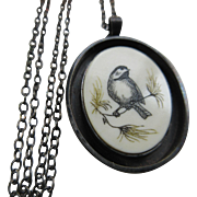 Frances Holmes Boothby Sterling Acrylic Necklace