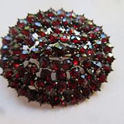 Older Vintage Bohemian Garnet Pin