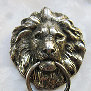 Joseff of Hollywood Lion Door Knocker Pin Pendant