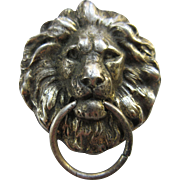 Joseff of Hollywood Lion Door Knocker Pin Pendant