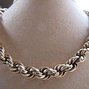 Older Vintage Twisted Rope Chain in Gold Fill