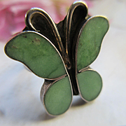 Native American Sterling Butterfly Ring