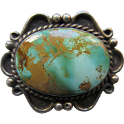 Native American Sterling Turquoise Pin
