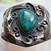 Vintage Sterling Southwest Cuff Bracelet
