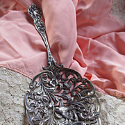 Antique Dutch Serving Spoon Bird Motif