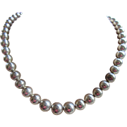 Vintage Tiffany and Co. Sterling Graduated Beaded Necklace