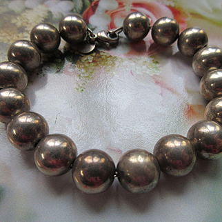 Vintage Tiffany and Co. Sterling Beaded Bracelet