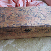 Antique Pyrography Christmas Box