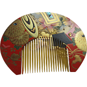 Japanese Kushi Comb Celluloid Hair Comb