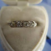 1920s Older Vintage 14K Diamond Ring
