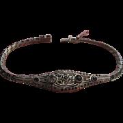 Deco Circa 1920 Sterling Paste Flapper Bracelet