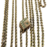 Victorian Ladies Watch Chain Crescent Moon and Star Slide