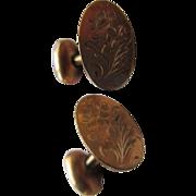 Victorian Floral Gold Fill Cufflinks Bespoke Accessory