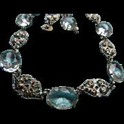 Vintage 30s Open Back Crystal Necklace