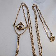 Vintage 14K 1920s Lavaliere Necklace