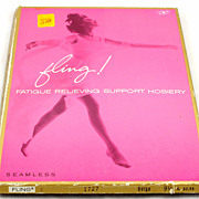 Vintage Seamless Fling Fatigue Relieving Support Hosiery 9 ½