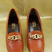 Wonderful Vintage G.Fox & Co Brown Tan Leather Oxford Shoes Size 5 1/2B
