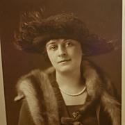 Marie House Granniss with Hat and Fur Mishkin Studio Photo