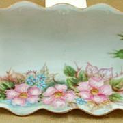 M Z Moritz Zdekauer Austria Porcelain Flower Tray Dish