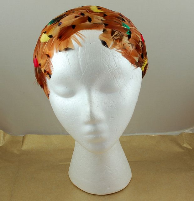 Gorgeous Vintage Feather Cocktail Headband Hat