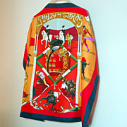 Vibrant Authentic Hermes Silk Scarf Plaza de Toros
