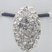 Fantastic Vintage Pave Rhinestone Faceted Glass Bead Dangle Brooch Pin