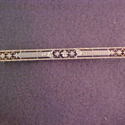 14 Karat Gold Bar Pin c. 1920's
