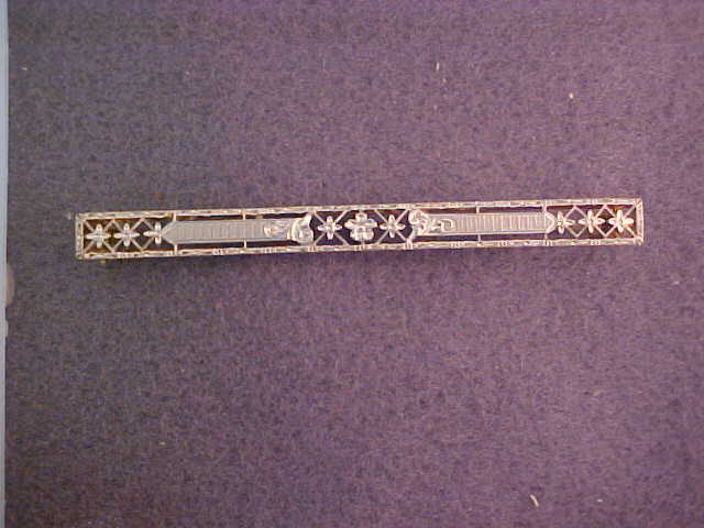 14 Karat Gold Bar Pin c. 1920's