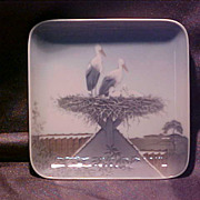 Bing and Grondahl Dish with Storks on Nest 483/455