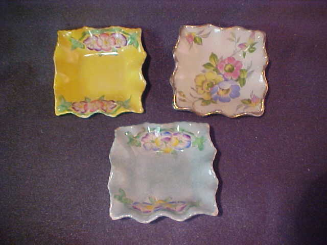 3 James Kent Dishes Ashtrays