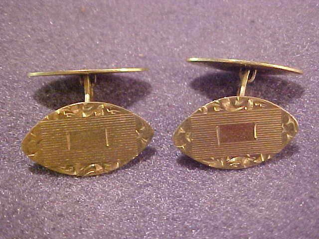 Vintage Engraved Cuff Links Unused on Card