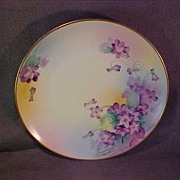 Handpainted Nippon Plate Floral Design