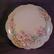 Limoges Hand Painted Floral Plate
