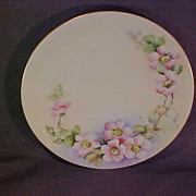 Hand Painted Floral Plate