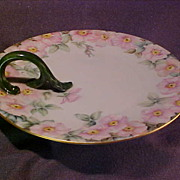Hand Painted Nappy Dish Floral Motif