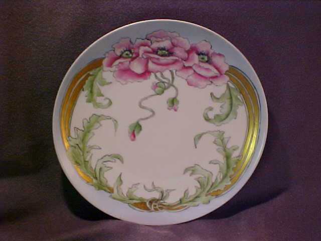 Great Hand Painted Plate Floral Design