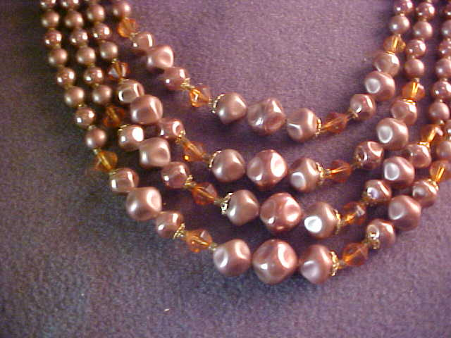 Japan 4 Strand Simulated Pearl Necklace