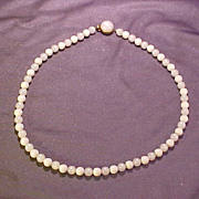 White and Moonglow Bead necklace