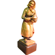Anri Woodcarving Egg Lady with Chicken