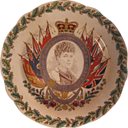 Wedgwood Eturia Queen Alexandra Coronation Commemorative Plate 1902