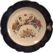 Edwardian Porcelain Dish Coronation of Edward and Alexandra 1902