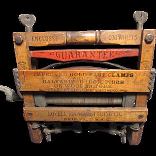 Salesman Sample Miniature Wringer Anchor Brand Lovell Manufacturing Erie