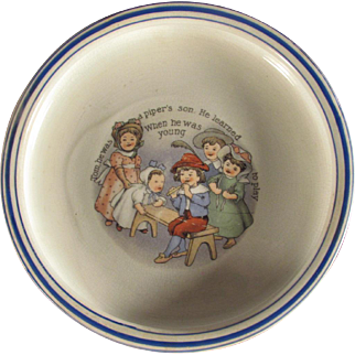Tom the Piper's Son Children's Dish by Sebring