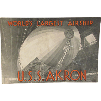 U. S.S. Akron 1931 Airship Booklet