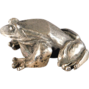 Sterling Silver Frog Figurine by Samuel Kirk and Sons