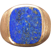 Man's Lapis Lazuli Ring in 10 Karat Yellow Gold