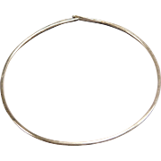 Sterling Silver Handcrafted Neck Wire Choker Necklace