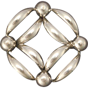 Sterling Silver Retro Pin by Richards