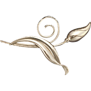 Sterling Silver Tulip Pin