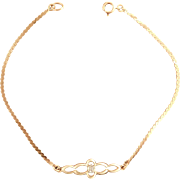 14 Karat Yellow Gold Diamond Bracelet